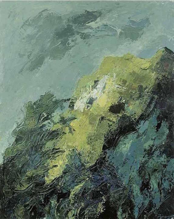 Monte San Martino IX, 1998. Acrilico su tela 90x70