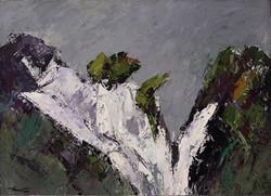 Alpi Apuane, 2002. Acrilico su tela 50x70
