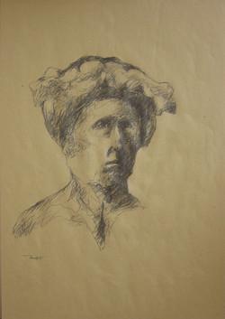 Autoritratto, 1991. Disegno a matita 50x35
