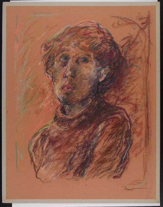 Autoritratto 1980, pastello su carta Canson 75x50