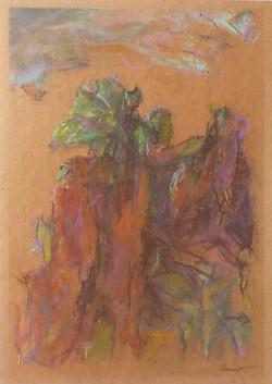 Oltrepò II, 1997. Pastello su carta 42x29,7