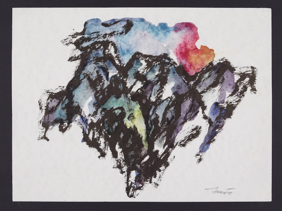 Montagne 1998, acquarello su carta 24x32
