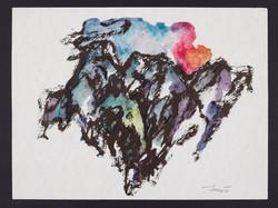 Montagne 1998. Acquarello su carta 24x32