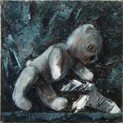Teddy Bear n. 36. Acrilico su tela 2017, 30x30