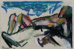 Nudino I 2006. Pastello a olio 10,5x14,5