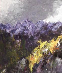 L'Esterel, striato di viola 2009. Acrilico su tela 70x60
