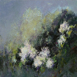 Bianco-verde, 2011. Acrilico su tela 80x80