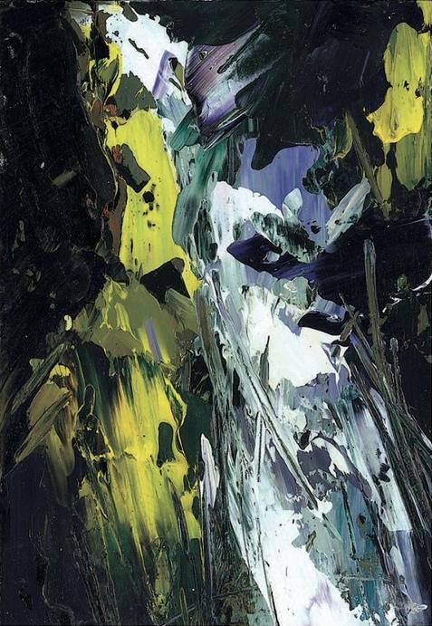 Cascata III 2006 acrilico su cartone 29,5x20,5
