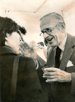 S.T. con G. Sutherland, un pittore molto amato,1979