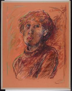 Autoritratto, 1980. Pastello su carta Canson 75x50