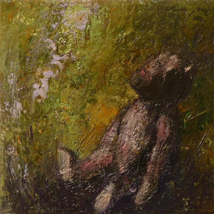 Teddy bear n. 1. Acrilico su tela 2016, 30x30