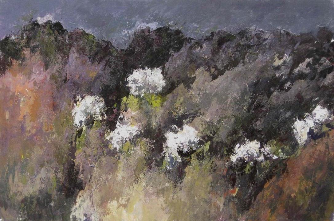 Ortensie XVI 2011 acrilico su tela 100x150