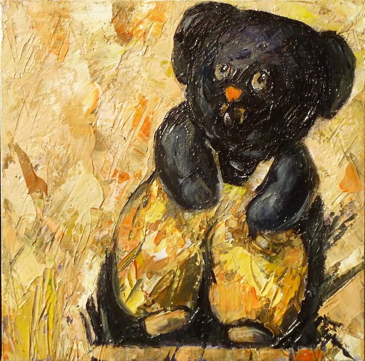 L'orso di Luca. Acrilico su tela 2017, 30x30