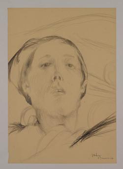 Autoritratto, 1966. Disegno a matita 37x26