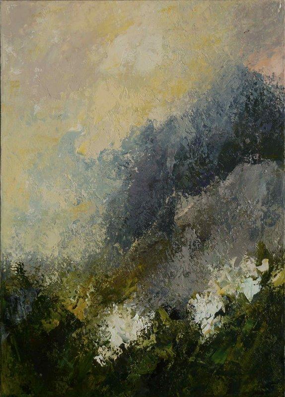 Trasparenze III, 2011. Acrilico su tela 70x50