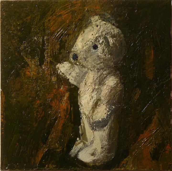 Teddy bear n. 5. Acrilico su tela 2016, 30x30