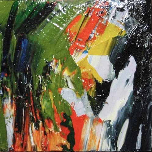 Cascatella 2010. Acrilico su tavola 10x10