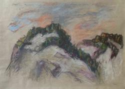 Svizzera 1997. Pastello su carta 29,7x42