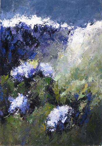 Trascolorano, 2009. Acrilico su tela 100x70