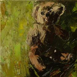 Teddy bear n. 12. Acrilico su tela 2016, 30x30