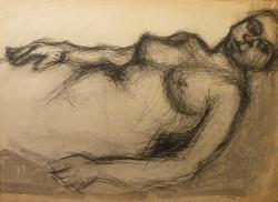 Nudo sdraiato 1959. Disegno a Conté 50x70