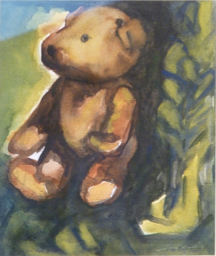 Teddy Bear n. 22. Acquarello su carta 2017, 30x30
