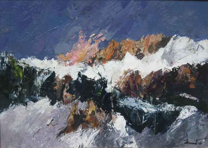 Passo Sella 2008. Acrilico su tela 50x70