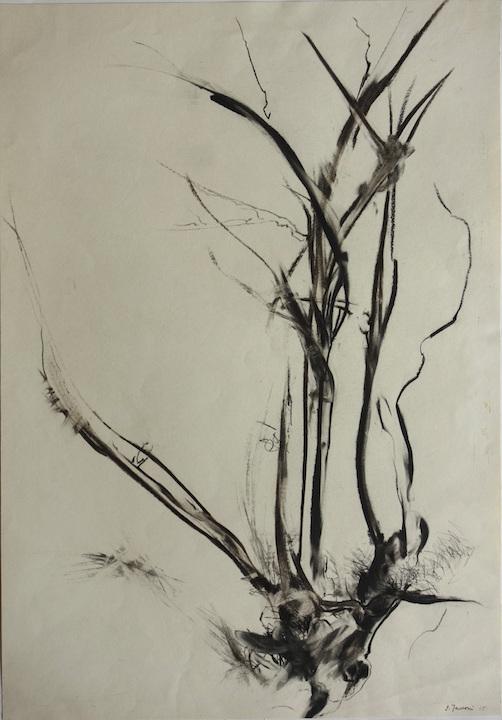 Composizione, 1965. Disegno a Conté su carta 70x50