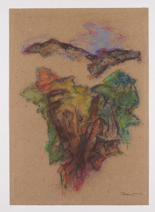 Calanchi in Abruzzo 1997, pastello su carta 42x29,7