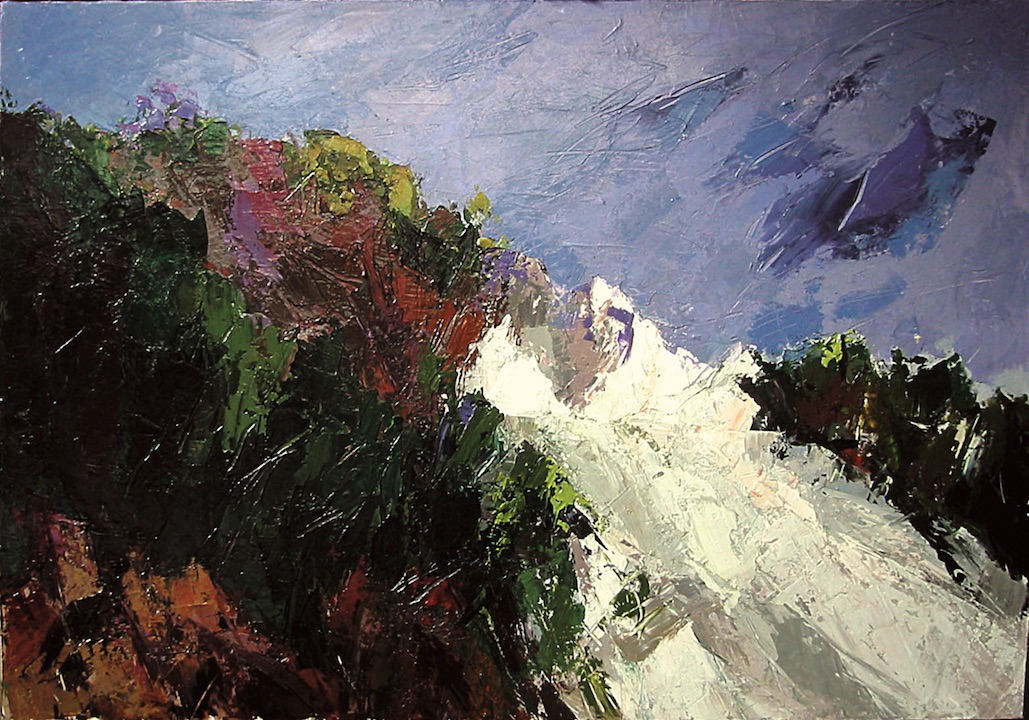 Alpi Apuane VII, 2002. Acrilico su tela 70x100