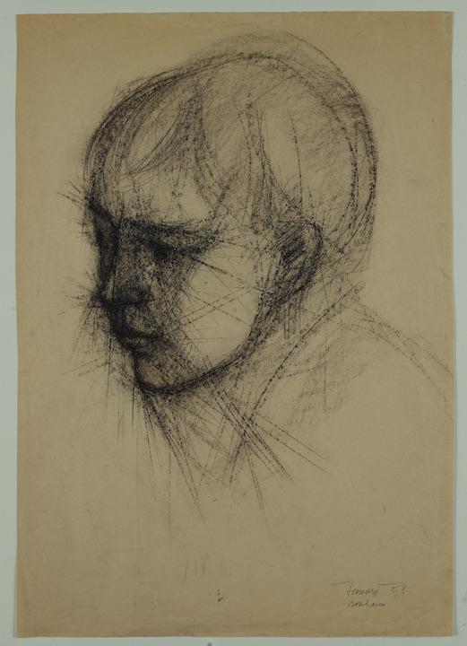 Timmy, 1958. Disegno a Conté 50x35