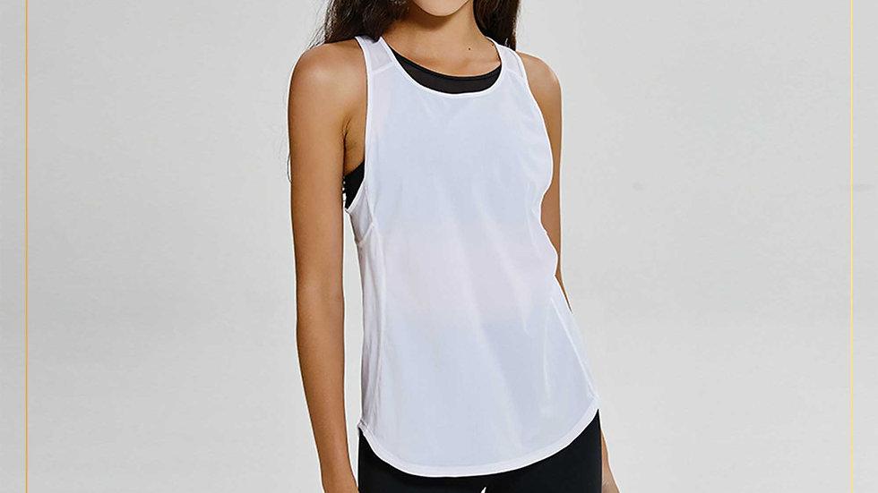 Baselayer atasan olahraga wanita tank top dry fit (Outer G)