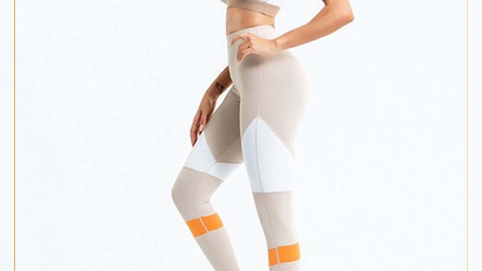 Setelan Olahraga Wanita Bra dan Legging Panjang Spandex Cotton (Set U)