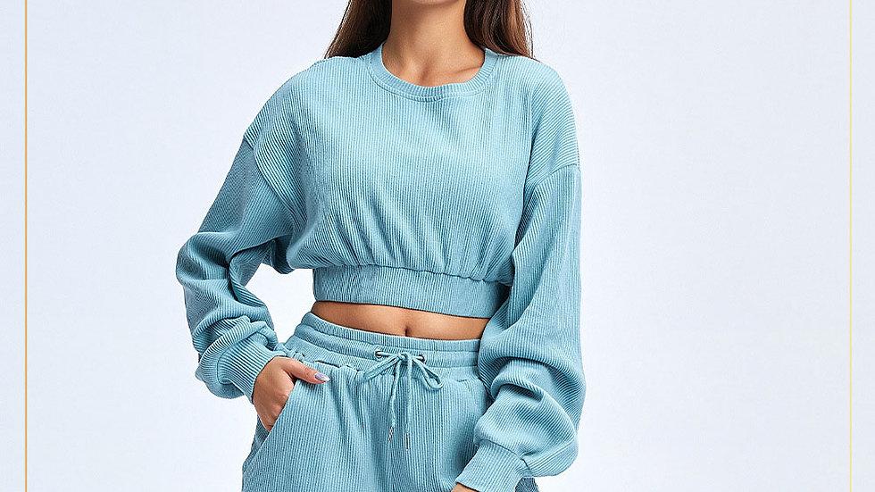 Baju santai untuk olahraga loose clothes cozy Loungewear Bisa untuk gym /Set B11