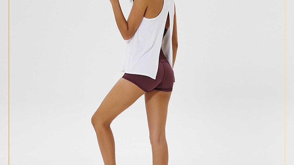 Baselayer atasan olahraga wanita tank top dry fit ikat blkg (Outer D)