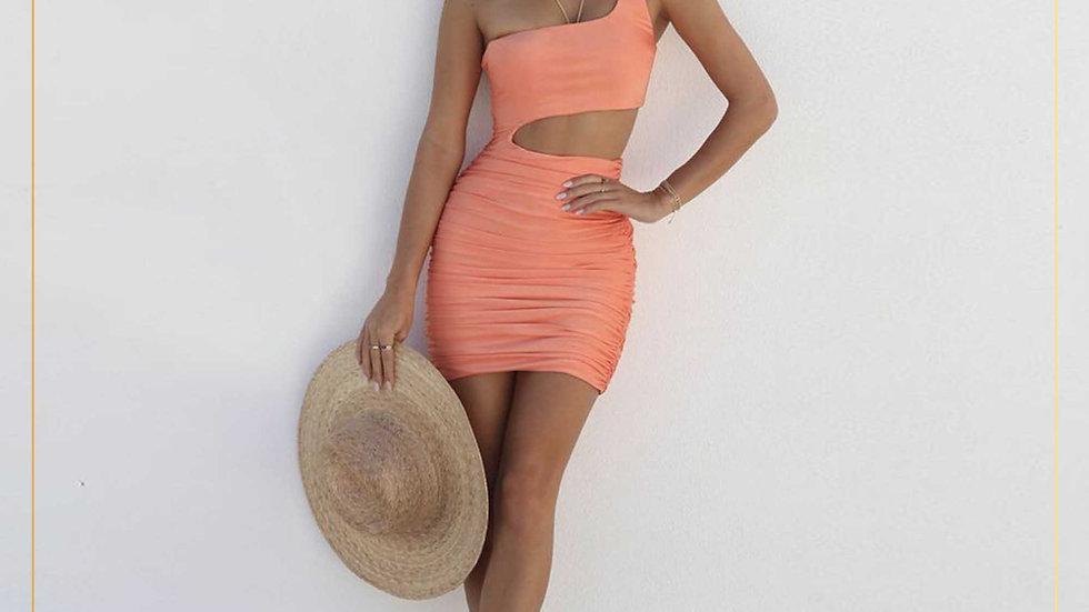 Dress Wanita Casual Mini Skirt Cotton Lengan tank top katun (Dress F)