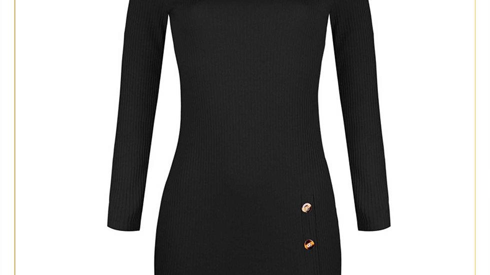 Midi Dress Wanita Fit Body Bahan Katun Feminin Import (Dress Q)