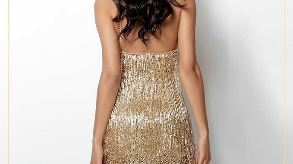 Mini Party Dress Elegant Gaun Pesta Mini Import Bling Mewah (Dress N)