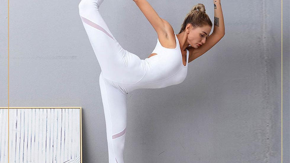 Jumpsuit celana panjang dengan X Punggung Keren Yoga Fitness (Jumpsuit M)