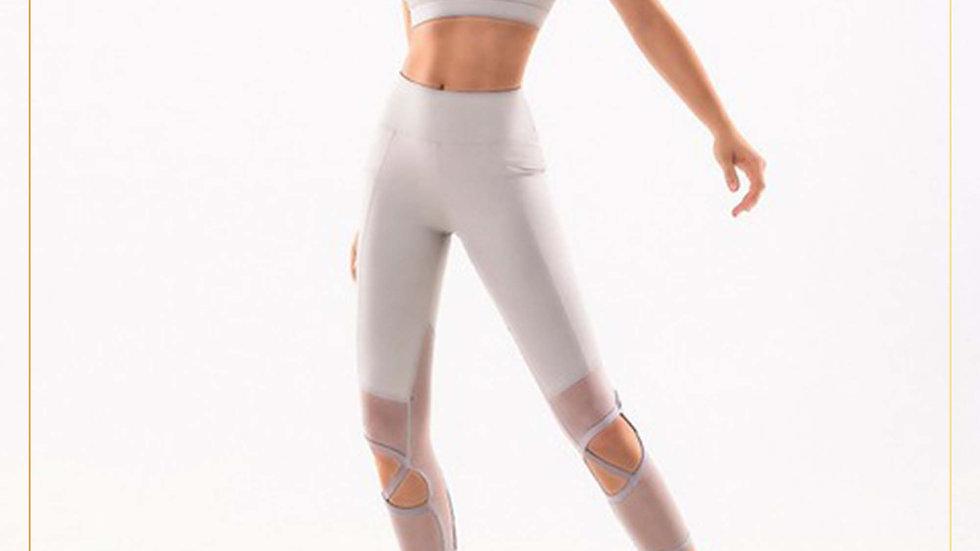 Setelan Olahraga Wanita Celana 3/4 Bra Rashguard Aerobik Fitnes(Set T)