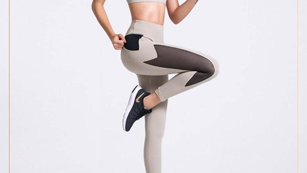 Setelan Olahraga Wanita Bra dan Celana Panjang Rashguard (Set W)