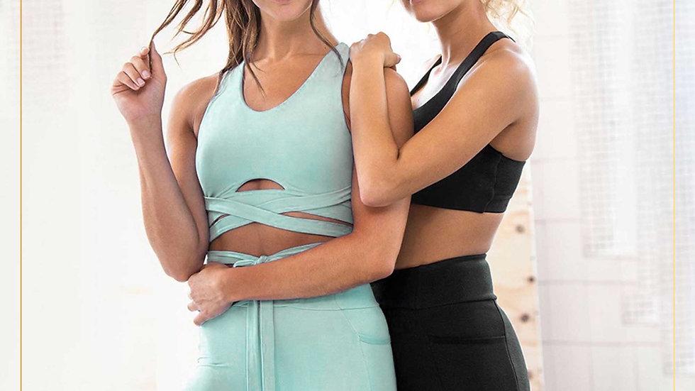 Setelan Olahraga Wanita Legging Tank top Yoga Training Aerobik (Set M)