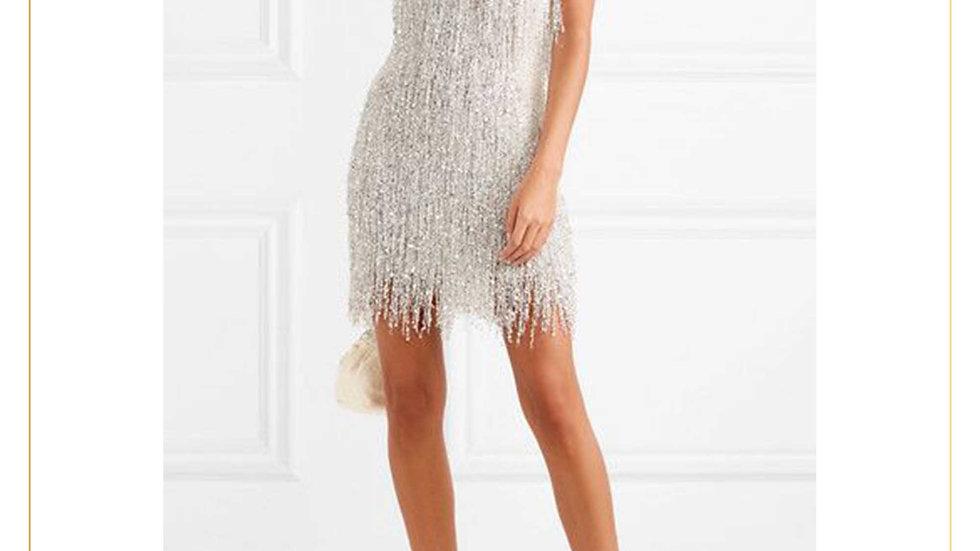 Mini Party Dress Gaun Pesta rok pendek import Elegant Mewah (Dress M)