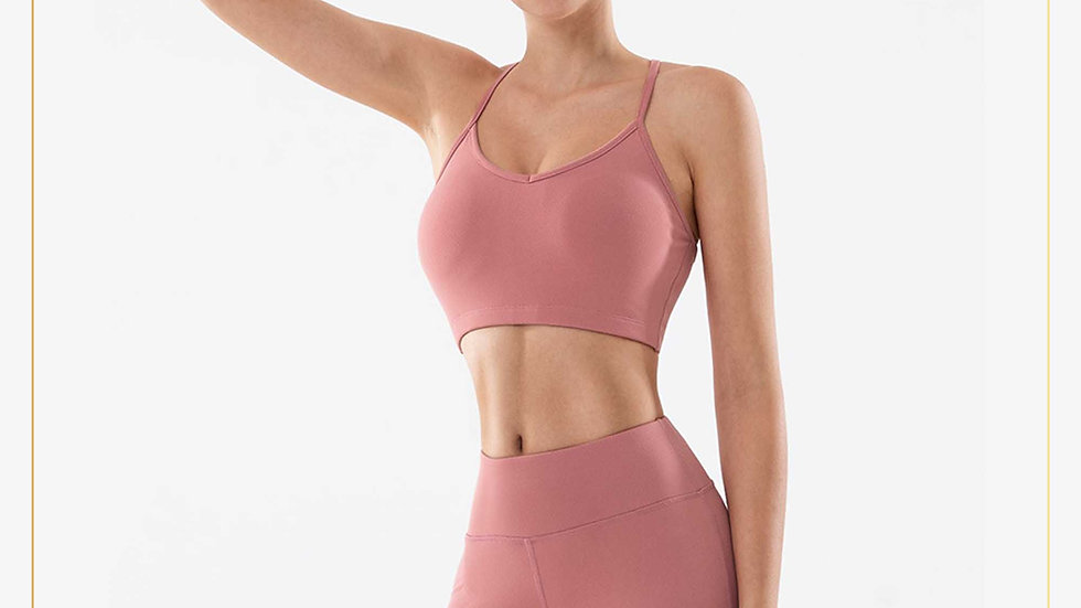 Setelan baju fitnes wanita Celana pendek & TankTop Yoga Zumba (Set A11)