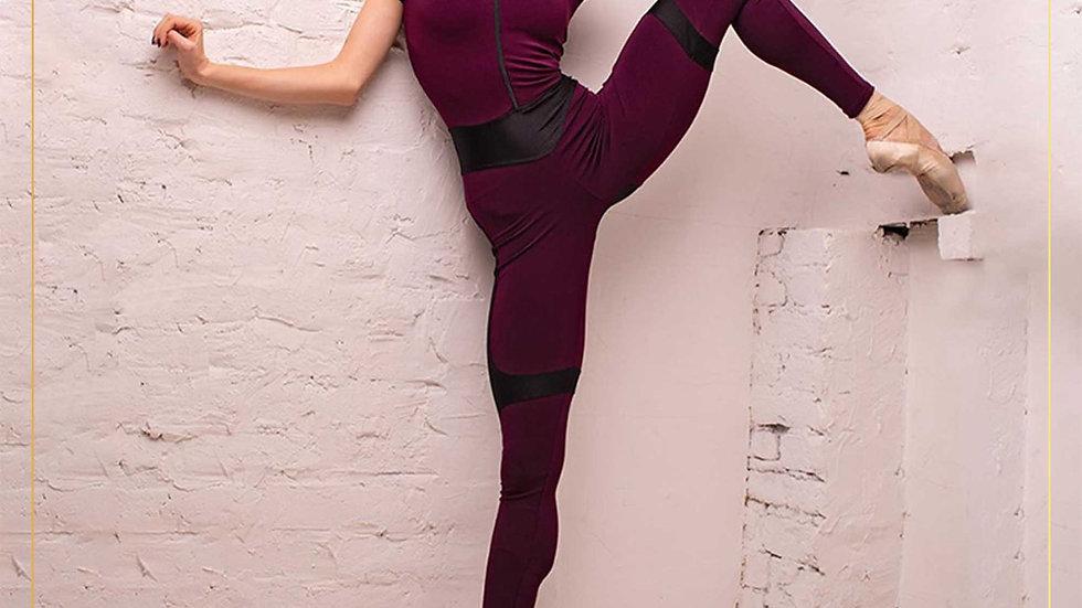 Jumpsuit Celana Panjang Lengan Pendek Fitness Yoga (JUMPSUIT A)