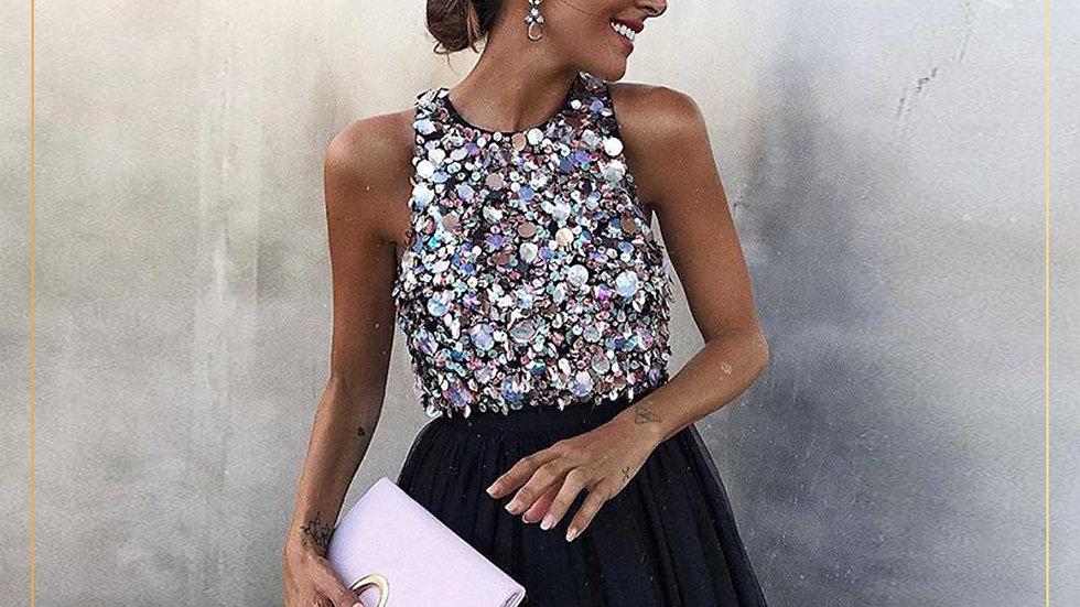 Dress Midi Elegant Import Burci Tutu Dress Pesta (Dress K)