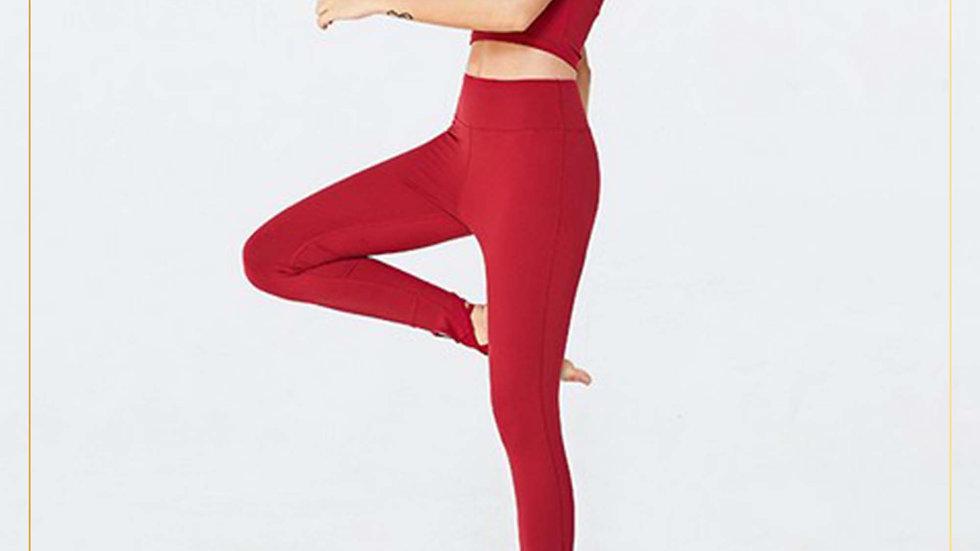 Setelan Olahraga Wanita Yoga Fitness with Straps on the ankle (Set V)