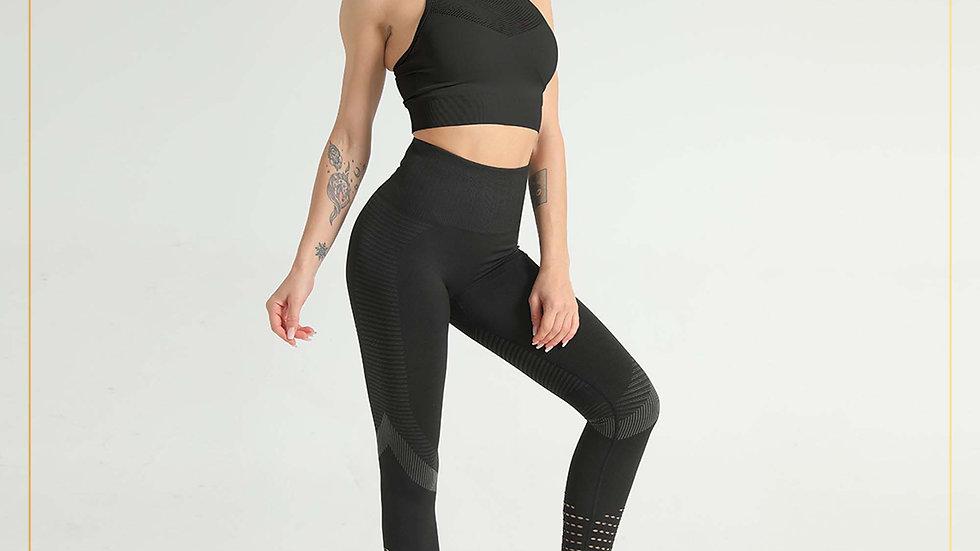 Setelan Olahraga Wanita Training Fitness zumba Yoga gym (Set A5)