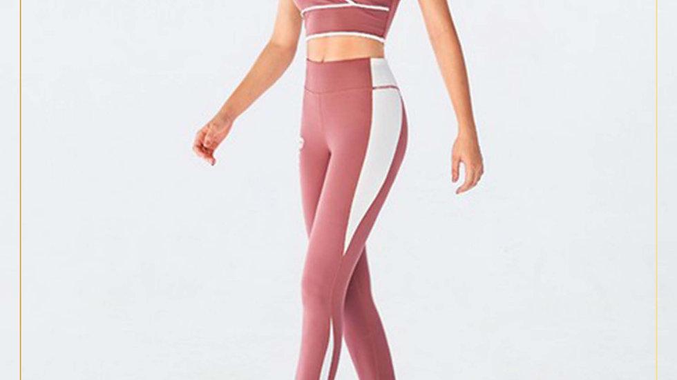 Setelan Olahraga Wanita Bra dan Celana Panjang Spandex Cotton (Set X)