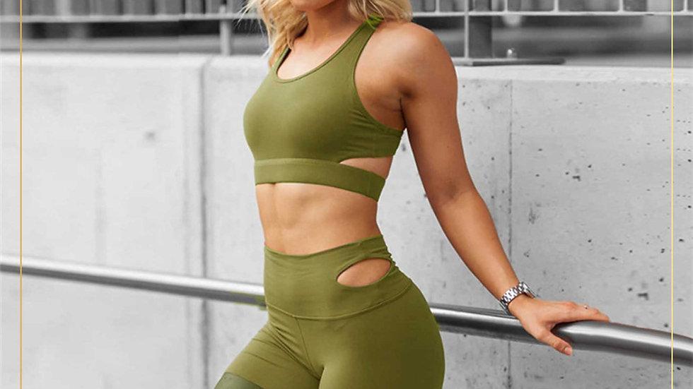 Setelan Olahraga Training Wanita Yoga Fitness Zumba Aerobik Gym(Set D)